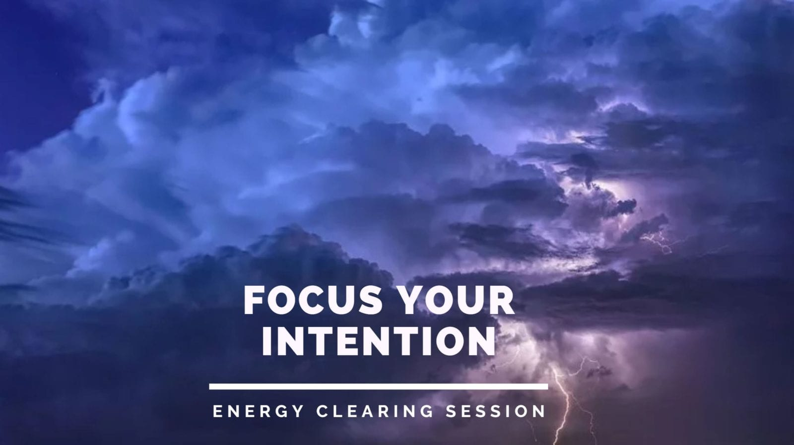 Focus Your Intention
